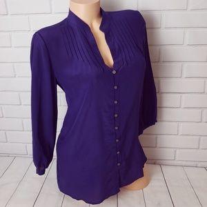 Banana Republic silk button down shirt